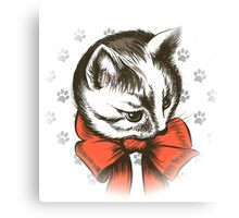 kitten wth red bow sketch Canvas Print