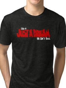 He Isn't Real! Tri-blend T-Shirt