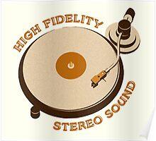 Vintage Vinyl Record High Fidelity Stereo Sound Poster