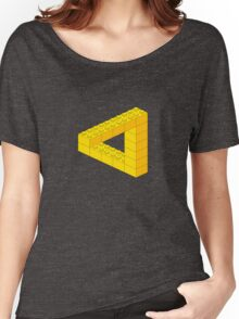 Lego-style impossible Penrose triangle shape Women's Relaxed Fit T-Shirt
