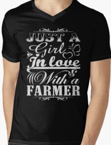 just a girl in love with a farmer Mens V-Neck T-Shirt