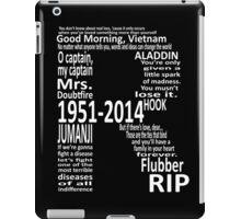 RIP Robin Williams - Tribute iPad Case/Skin