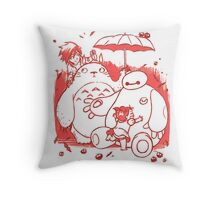 Totoro and Baymax Throw Pillow