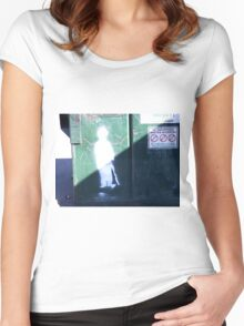 Charlie Chaplin Graffiti Women's Fitted Scoop T-Shirt