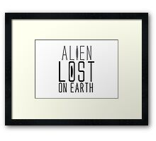 alien lost on earth Framed Print