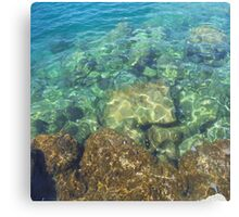 Greek Sea Water Canvas Print