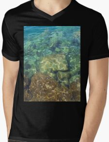 Greek Sea Water Mens V-Neck T-Shirt