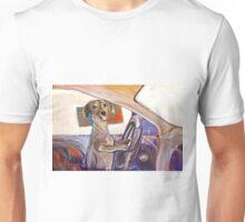 Dog Driving Unisex T-Shirt