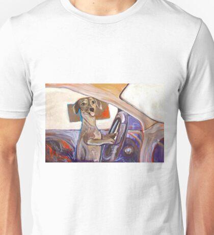 Dog Driving Unisex T-Shirt