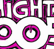Mighty Boosh Logo, Colourful, Funky, Funny Sticker