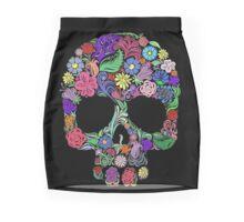 Sugar Skull  Floral  Mini Skirt