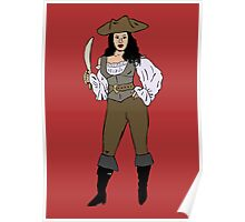 Lady pirate Poster