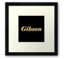 Bold Gibson Framed Print
