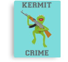 Kermit Crime Canvas Print
