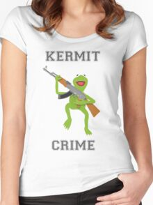 Kermit Crime Women's Fitted Scoop T-Shirt