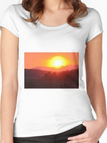 Wildfire Sunset Women's Fitted Scoop T-Shirt