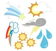 My little Pony - Weather Team Cutie Mark Special V3 Photographic Print
