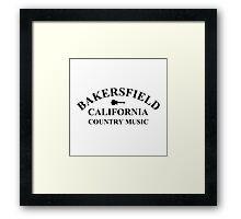 Bakersfield California (Black) Framed Print