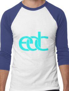 Electronic dance music blue Men's Baseball ¾ T-Shirt
