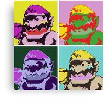 Wario Warhol Canvas Print