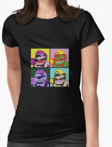 Wario Warhol Womens Fitted T-Shirt