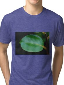 Green leaf Tri-blend T-Shirt