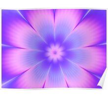 Cottoncandy Flower Poster