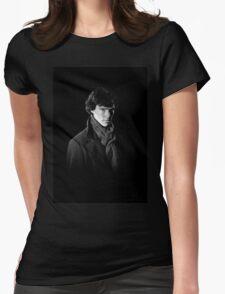Sherlock Holmes portrait Womens Fitted T-Shirt