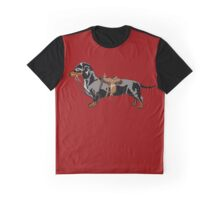 Dachshund in a saddle Graphic T-Shirt