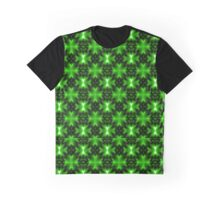 Vibrant Green Fractal Pattern Graphic T-Shirt