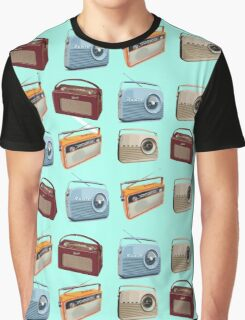 Retro Radios Graphic T-Shirt