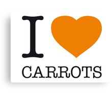 I ♥ CARROTS Canvas Print