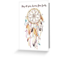 Dreamcatcher Feathers in Natural Greeting Card