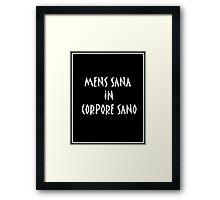 """Poster """"Mens sana in corpore sano"""" Framed Print"""