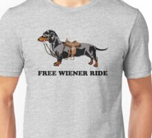 Dachshund ride Unisex T-Shirt