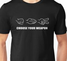 Rock Paper Scissors choose your weapon Unisex T-Shirt