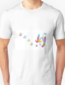 Joy and Butterfly Devotional Mug and Notebooks Unisex T-Shirt