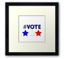 #Vote (Blue) Framed Print