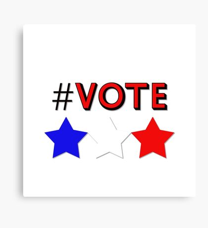 #Vote (Red) Canvas Print
