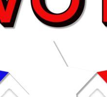 #Vote (Red) Sticker