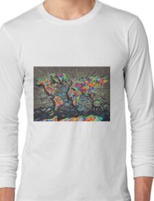 world map abstract Long Sleeve T-Shirt