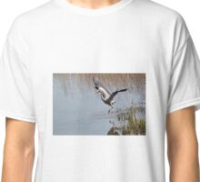 Grey Heron in Flight 2.  Classic T-Shirt