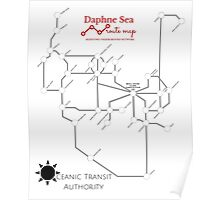 Daphne Sea Route Map Poster