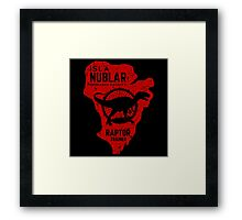 Raptor Trainer Framed Print