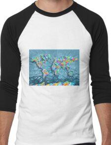 world map abstract 2 Men's Baseball ¾ T-Shirt