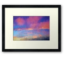 Color Abstraction XLVIII - Sunset Framed Print