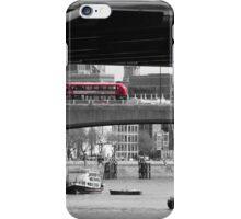 Buses on bridge iPhone Case/Skin