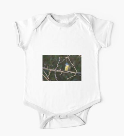 Blue Tit in a tree 1. One Piece - Short Sleeve