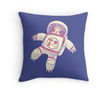 Astronaut Sloth Drawing Throw Pillow
