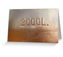 Old copper wine tank fragment Greeting Card
